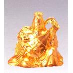 仏像 七福神| 弁財天 純金メッキ 6.2|合金製 【高岡銅器】10z52-4