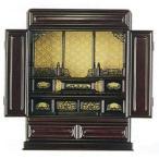 上置き型仏壇 唐木仏壇  牡丹  黒檀調プリント 18号 中国製