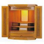 高級 新型仏壇 18号  六角  杢種 クルミ ライト 家具調仏壇 日本製