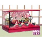 【Sale!】雛人形 木製枠本格ガラスケース飾り「花小路雛 五人揃い お道具セット」ksh299set