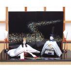 雛人形 ひな人形「友禅ちりめん極上凛音雛」rh154 コンパクト 収納/リュウコドウ