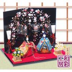 【Sale!】雛人形 ひな人形「正絹 古調ひな 高級弥生雛」rh171s コンパクト お雛様 リュウコドウ