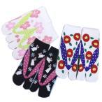 靴下 足袋 ソックス 女性用 和柄 3足セット 草履柄 桜 うさぎ 椿 スニーカー丈