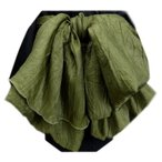 兵児帯 へこ メンズ 男性 浴衣 着物 ふわクシュ 渋緑