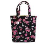 ミニ 手提げ トート バッグ 和柄 桜楓 うさぎ 黒 和小物