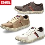 EDWIN エドウィン EDM-345 スニーカー メンズ ローカット ホワイト ベージュ ダークブラウン カジュアル