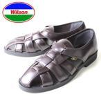 涼鞋 - メンズ カメサンダル ドライビングシューズ オフィスサンダル Wilson ウィルソン 3600 ダークブラウン 通気性 クールビズ