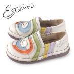 エスタシオン 靴 estacion TG043 (IV/MT) 本革 厚底 スリッポン カジュアルシューズ コンフォートシューズ