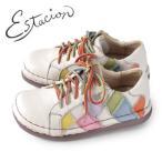 エスタシオン 靴 estacion TG155 (IV/MT) 本革 厚底 カジュアルシューズ コンフォートシューズ