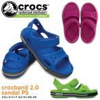 ショッピングcrocband クロックス クロックバンド 2.0 サンダル PS crocs crocband 2.0 sandal PS 14854 キッズ ジュニア ブルー パープル グリーン セール 送料無料