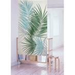 のれん 暖簾 ハワイアン FPロマリア 82x150cm グリーン ハワイアンインテリア リーフ 南国風