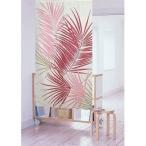 のれん 暖簾 ハワイアン FPロマリア 82x150cmピンク インテリア リーフ 南国風