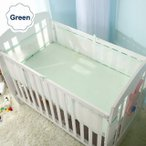 通気性 メッシュ ベビー  ベッド バンパーセットプロテクター 幼児  ベビー  ベッド バンパー ベビー  シート 寝具セット 120*