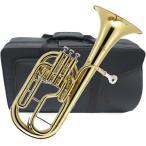 J Michael(Jマイケル) 送料無料 アルトホルン 3ピストン ゴールド 新品 E♭ 管体 トップアクション ケース マウスピース 管楽器 【 AH-600 アウトレット 】