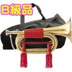 MAXTONE(マックストーン) TB-3 信号ラッパ 3つ巻 お祭り 楽器 軍隊 ラッパ 吹奏 号令 バルブなし ケース付き ゴールド ビューグル 凧ラッパ 3連タイプ