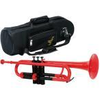 送料無料 プラスチック トランペット 新品 管楽器 B♭ 本体 マウスピース ソフトケース セット カラー レッド ブルー イエロー ピンク Plastics Trumpets