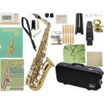 送料無料 Antigua アルトサックス スタンダード 管体 ゴールド GL  初心者 管楽器 サックス 本体 【 アンティグア GL アルトサクソフォン set B】