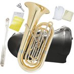 PRESON(プレソン) PRB-103 チューバ B♭ 4ピストン フロントアクション 3/4サイズ 管楽器 管体 ゴールド イエローブラス ピストンチューバ 小型 PRB103