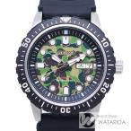 セイコー 腕時計 メカニカルダイバーズ SZEL003 A BATHING APE ベイプカモ文字盤 ラバーベルト グリーン 箱・保付 【送料無料】