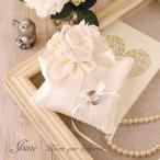 リングピロー 手作り キット 結婚式 ウェディング おしゃれ かわいい 結婚祝い プレゼント 贈り物  Juno ジュノー ブーケレースとリボンのピロー H431-146