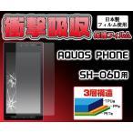 【在庫処分セール】 AQUOS PHONE SH-06D用 衝撃吸収保護シール docomo アクオス フォン SH-06D