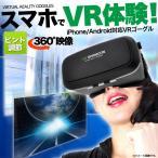 VRゴーグル VR映像 3Dメガネ 眼鏡 グラス 薄型 バーチャル リアリティ ゲーム スマホ ヘッドセット