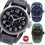 テクノス T4379 革ベルトモデル クロノグラフ 腕時計 メンズ TECHNOS 正規品 アウトレット