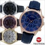 テクノス T9473 牛革バンド クロノグラフ 腕時計 メンズ TECHNOS 正規品 アウトレット