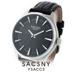 SACCSNY Y'SACCS サクスニー イザック SYA-15087-BK メンズ レディース 腕時計 黒
