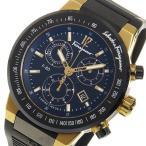 ショッピングフェラガモ フェラガモ F-80 クロノ クオーツ メンズ 腕時計 F55LCQ75909S113 ブラック