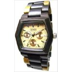 Tense テンス Mens Wood Watch - Multicolored Wood Triple Dial Hexagon G8303DM Light Face 男性用 メンズ 腕時計