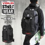 VISION STREET WEAR(ヴィジョンストリートウェア) 被せリュック リュックサック デイパック A3 9193 メンズ 送料無料
