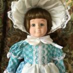 オールドビスクドール ブルーボンネット 約40cm 【陶器 人形 アメリカ直輸入 ヴィンテージコレクション ドレス】