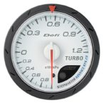 Defi-Link Meter TURBO. ターボ計 Max120kPa 60パイ WHITE リンクメーター アドバンスCR 白 Defi(デフィー)