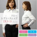 【送料無料】レディースワイシャツ(ブラウス)DLS-51(長袖・パープルストライプドビー)■2点までゆうパケット配送