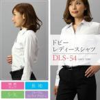 【送料無料】レディースワイシャツ(ブラウス)DLS-54(長袖開襟・パープルストライプドビー)■2点までゆうパケット配送