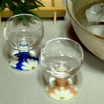 九谷焼 陶器 ペア グラス マーガレット