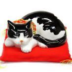 平和を願う! 九谷焼 眠り猫 白黒くん