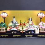 加賀百万石の雛人形 九谷焼 陶器のひな人形 プラチナ・ライン 初節句お祝いセット一式