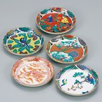 和食器 九谷焼 小皿5枚セット 時代画