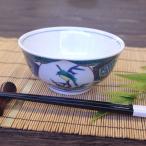 和食器 ご飯茶碗 九谷焼 古九谷風かわせみ (大きめ)