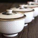 来客用 蓋付 湯呑み茶碗5客セット 九谷焼 白七宝