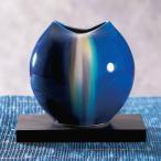 九谷焼 陶器 花瓶 釉彩(台付)