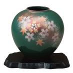 陶器 花瓶 九谷焼 花舞(花台付き)