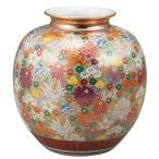 陶器 花瓶 九谷焼 金花詰