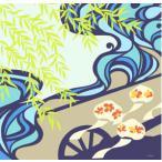 送料無料 超撥水風呂敷 ながれ 大判 96×96cm乱 かぶき柳 ちりめんタイプ