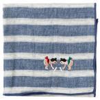 相撲ハンカチ はっけよい カランコロン京都《にっぽん CHA CHA CHA》 Handkerchief of sumo pattern