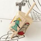 どんころ(六角こま) 民芸玩具 宮城県の木地玩具 Wooden top, Miyagi craft