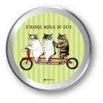 LCC-007/不思議な猫缶ステッカー5枚入り【自転車】/世にも不思議な猫世界