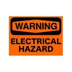 SECURITYステッカー MD025 警告 感電の恐れあり